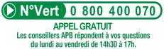 Numéro vert APB 0 800 400 070